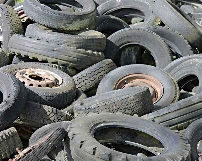 Neumáticos residuos
