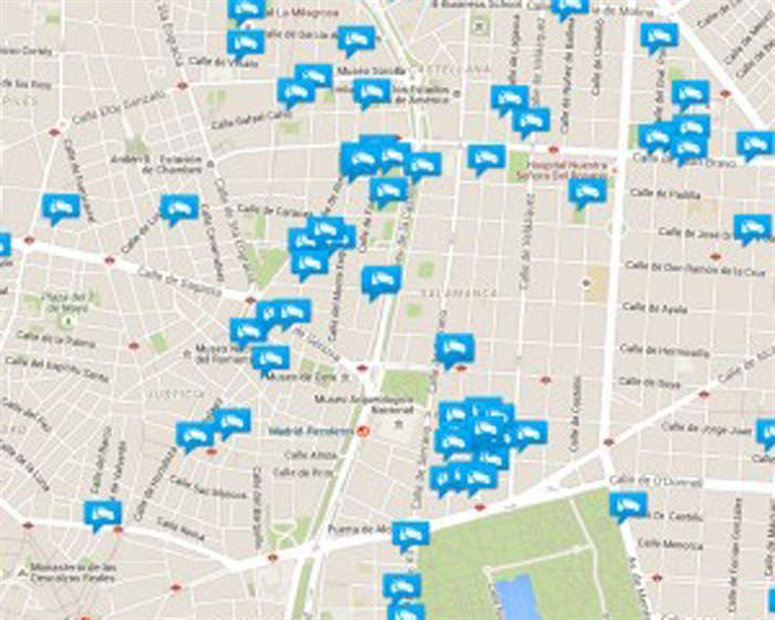 Mapa Car2go