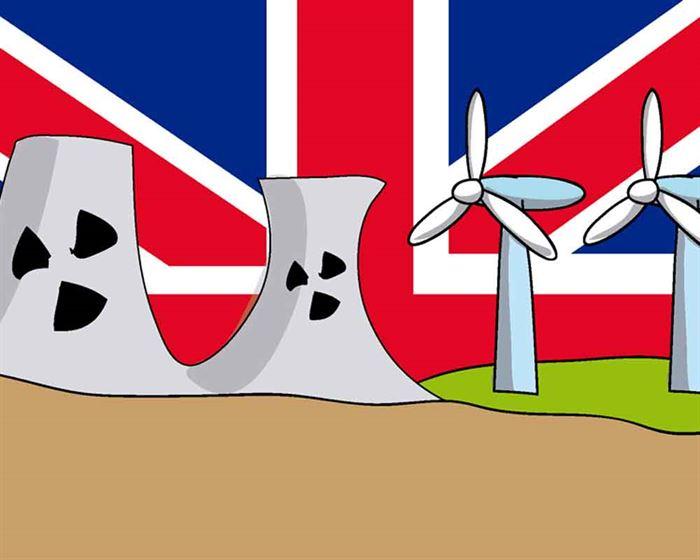 UK energía nuclear y energía renovable