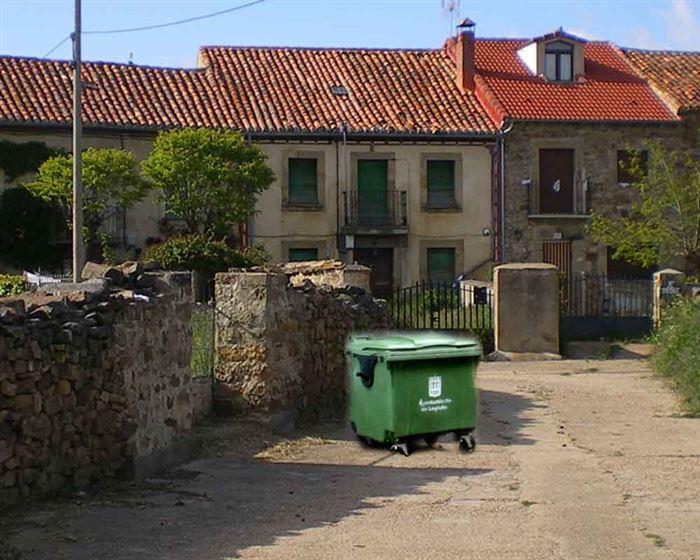 Contenedor residuos rurales