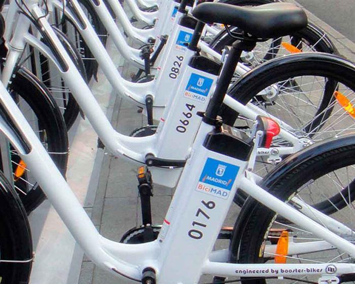 BiciMad aparcadas