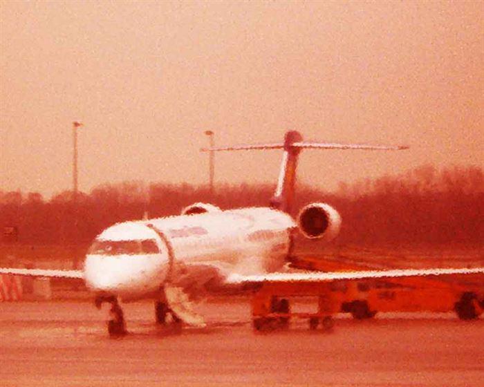 Avión en sepia