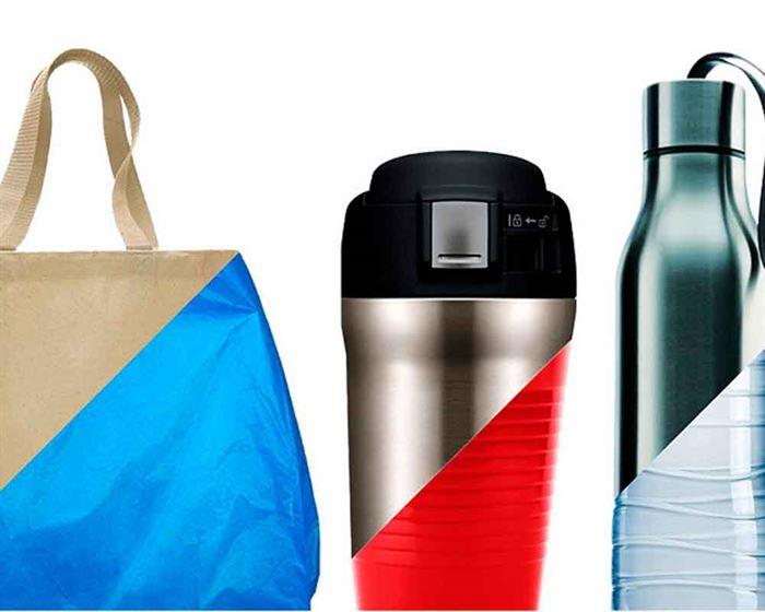 Bolsa y botellas