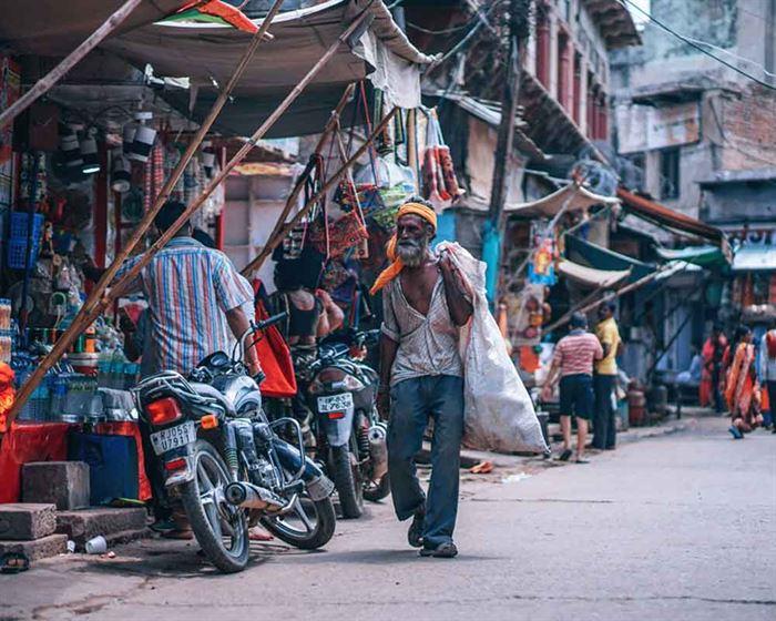 Gente pobre en la India