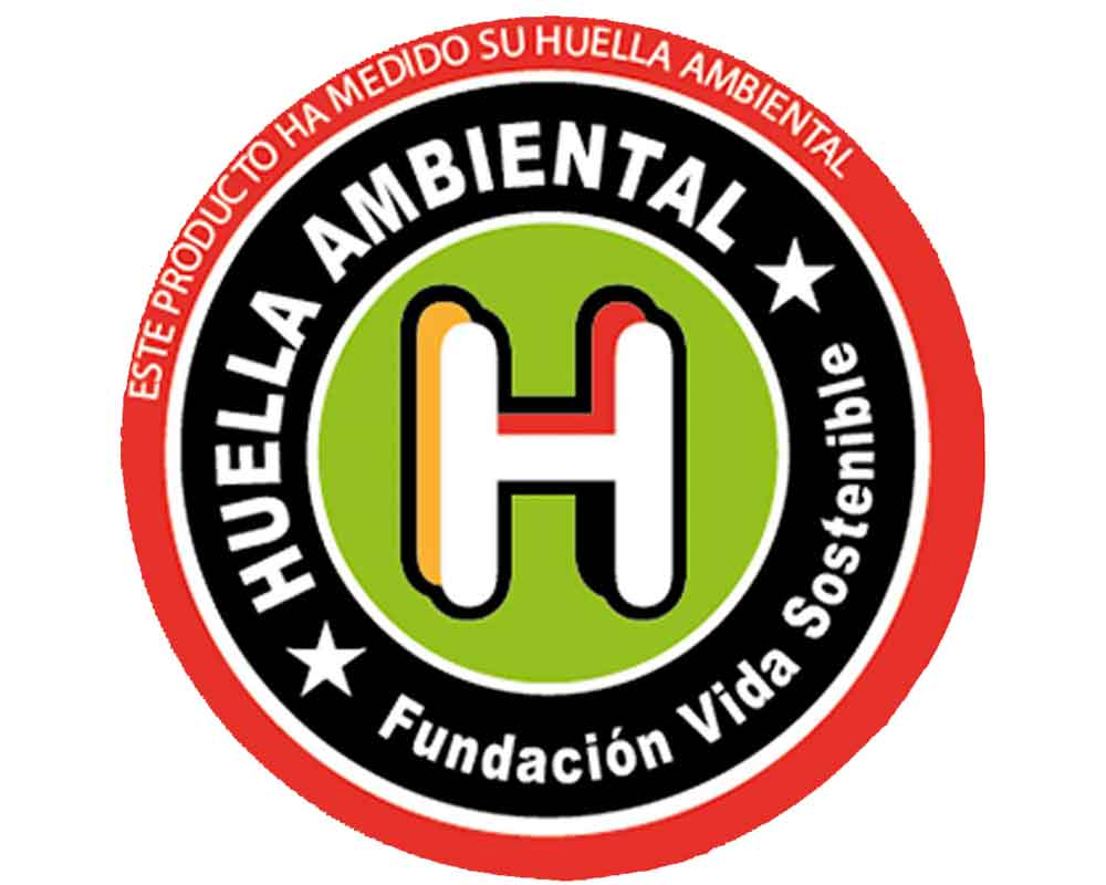 Sello de huella ambiental FVS rojo