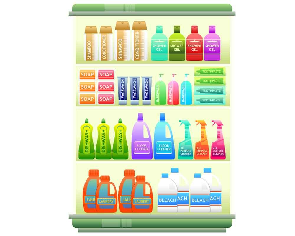 Estantería de productos limpieza