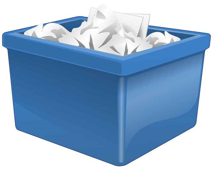Contenedor de papel