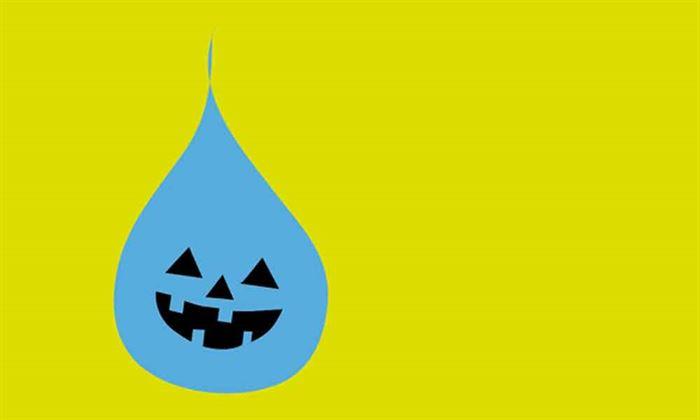 Escasez de agua Halloween
