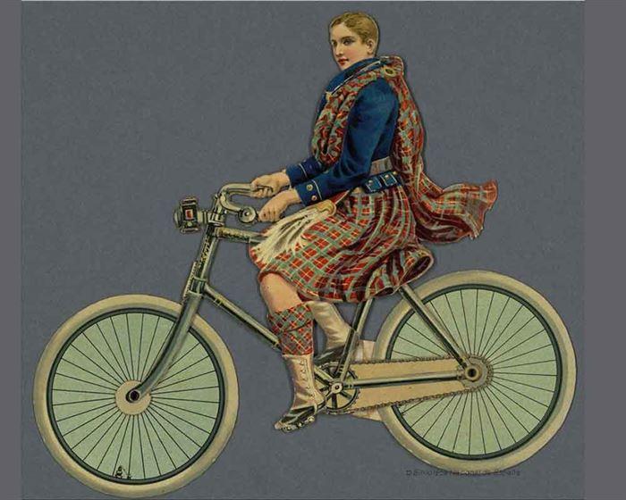 Joyeux cyclistes personnages