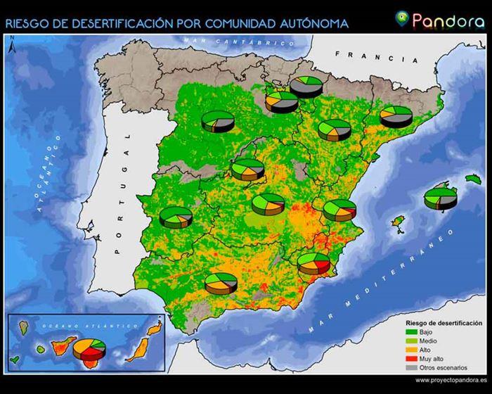 Riesgo de desertificación en España e
