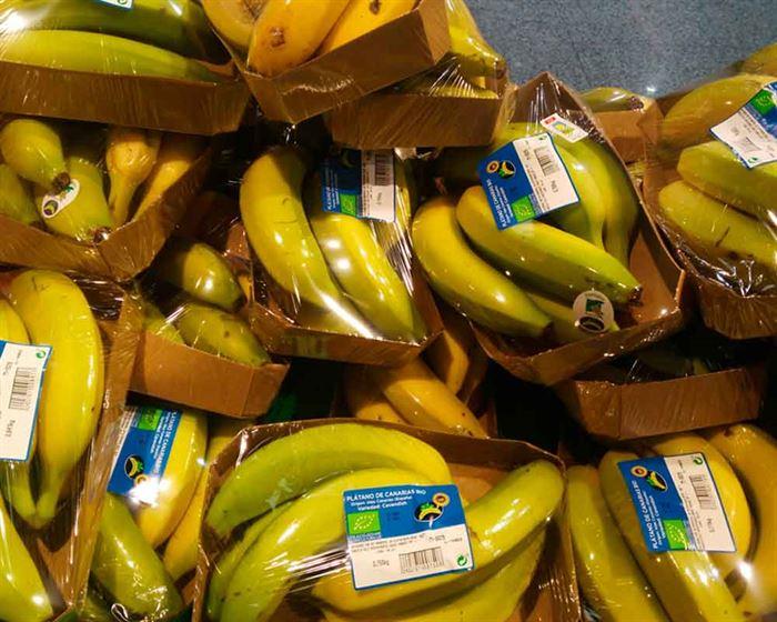 Plátanos envasados