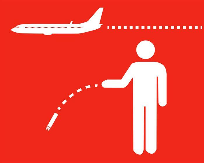 colilla y avión