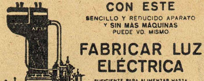 Anuncio ecéctrico 1922