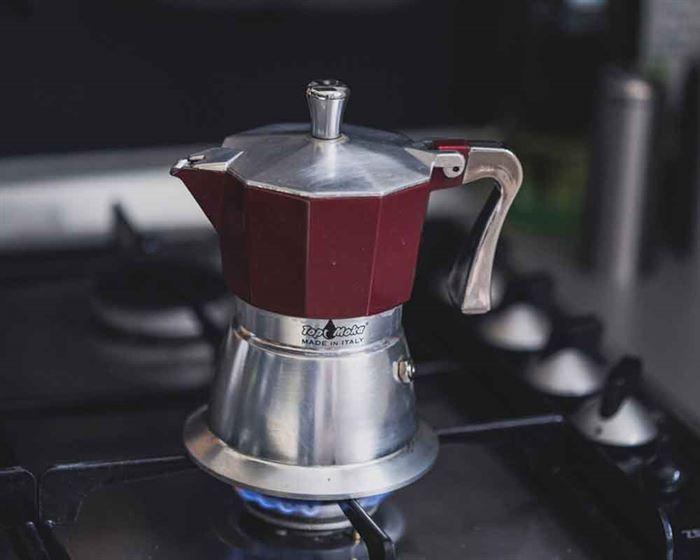 Cafetera en el fogón