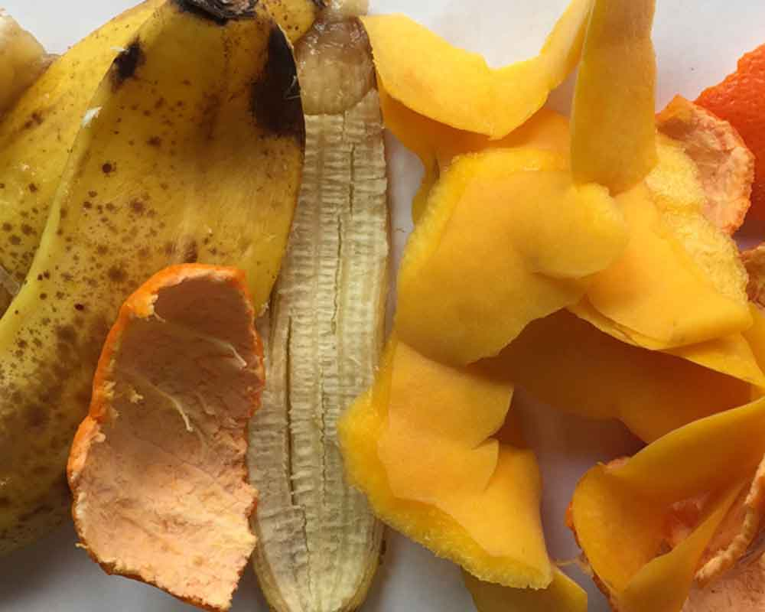 Cáscaras de fruta para compostaje