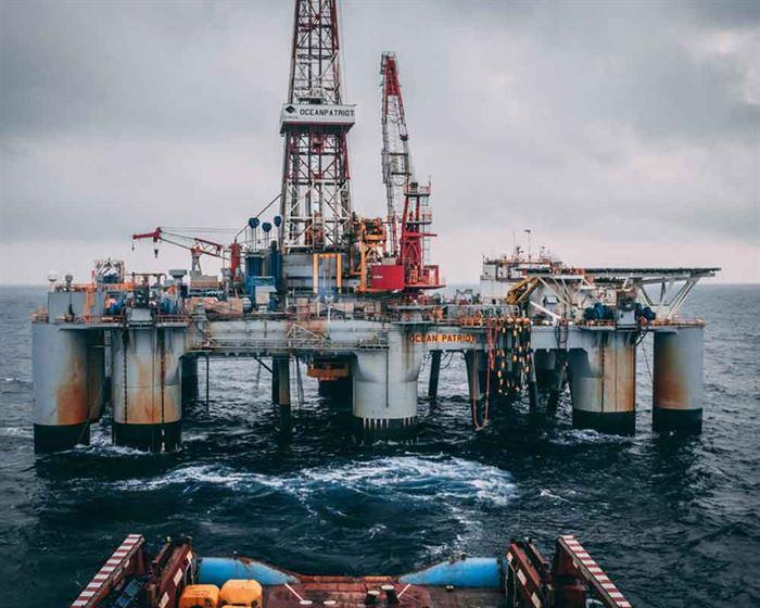 Pozo petrolero marino