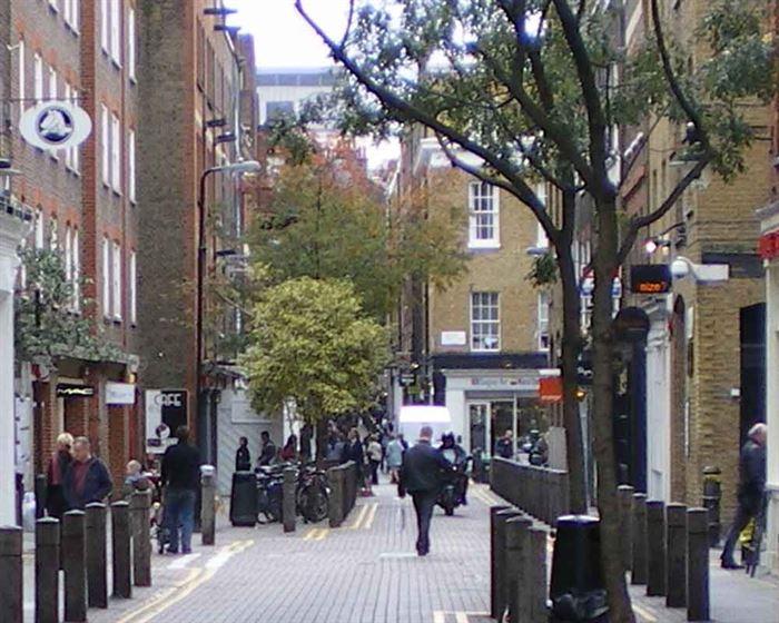 Vecinos en la calle